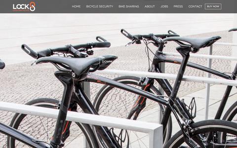 Screenshot of Press Page lock8.me - LOCK8 - Smart Bike Lock | Bike GPS Tracking | Bike Lock Alarm - captured Sept. 16, 2014