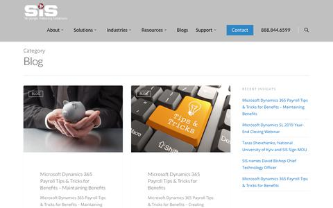 Screenshot of Blog sisn.com - Blog Archives   Strategic Industry Solutions, Inc - captured Jan. 22, 2020