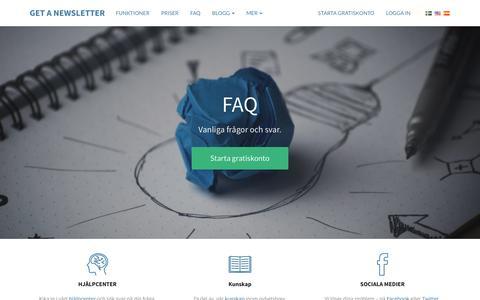 Screenshot of FAQ Page getanewsletter.com - FAQ | Get a Newsletter - captured May 18, 2017
