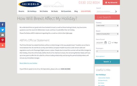 Travel Advice | EU Referendum | ABTA | Skiworld