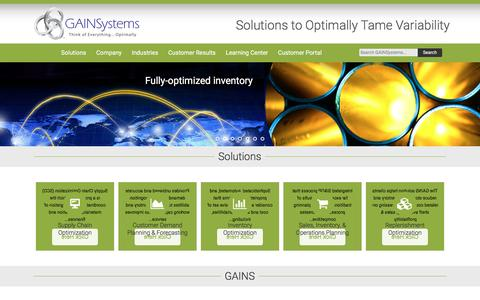 Supply Chain Planning Solutions | Inventory Optimization | GAINSystems Inc.