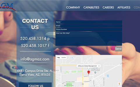 Screenshot of Contact Page agmaz.com - agmaz | CONTACT - captured Oct. 3, 2018