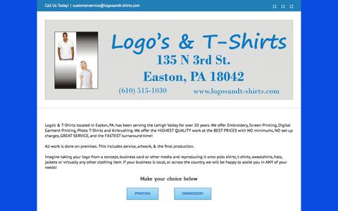Screenshot of Home Page logosandt-shirts.com - Logos & T-Shirts - captured Jan. 21, 2015