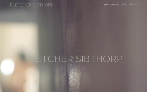 Screenshot of Home Page fletchersibthorp.com - Fletcher Sibthorp – Site for figurative artist Fletcher Sibthorp - captured Oct. 10, 2017