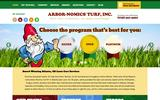 Old Screenshot Arbor-Nomics Turf, Inc. Home Page