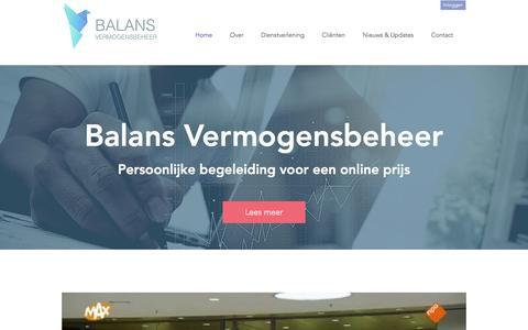 Screenshot of Home Page balansvermogensbeheer.nl - balans - captured July 28, 2016