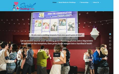 Screenshot of Home Page socialweddingsr.us - Social Weddings R Us | Professional Social Media Wedding Concierge for Brides, Wedding Venues, Photographers and Planners - captured Oct. 6, 2014