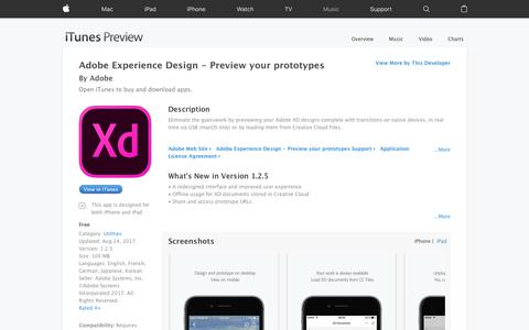 Adobe Experience Design - Preview your prototypes on the App Store