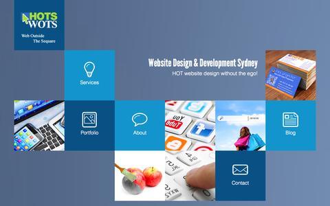 Screenshot of Home Page hotswots.com - HotsWots | Website Design & Website Development Sydney | Web Design Sydney | HOTSWOTS - captured Oct. 1, 2014