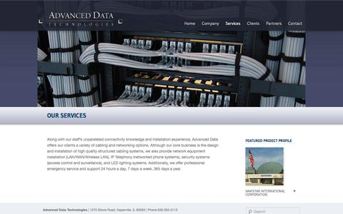 Screenshot of Services Page webadt.com - Our Services | Advanced Data Technologies - captured Oct. 4, 2014