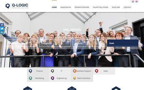 Screenshot of Home Page q-logic.nl - Q-logic - captured Sept. 25, 2018