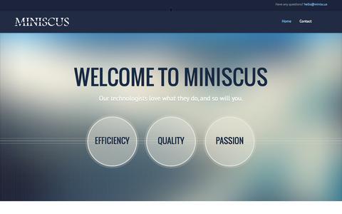Screenshot of Home Page miniscusgroup.com - Miniscus - captured Oct. 1, 2014