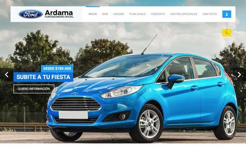 Screenshot of Home Page ardama.com.ar - Ardama - Concesionario Ford Premium - captured Dec. 26, 2015