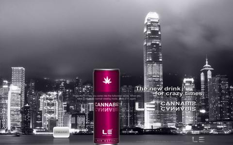Screenshot of Home Page life-element.com - LE CANNABIS Moodlifter Drink. Lifts your mooood. - captured Oct. 1, 2014