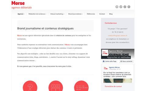 Screenshot of Home Page agence-morse.fr - Agence Morse Agence éditoriale | Agence Morse à Paris | Brand Journalisme et Rédaction de contenus stratégiques - captured Dec. 24, 2015
