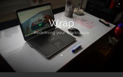 Screenshot of Home Page wrapmydesk.com - Wrap | Redefining your Workspace - captured Dec. 13, 2014
