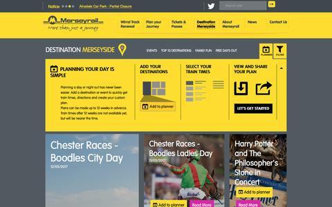 Screenshot of Locations Page merseyrail.org - Destination Merseyside - captured May 10, 2017