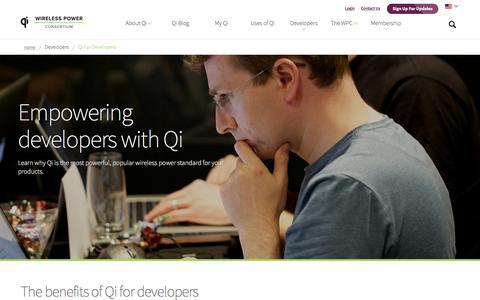Screenshot of Developers Page wirelesspowerconsortium.com - Developers - captured Aug. 23, 2016