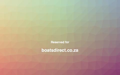 Screenshot of Home Page boatsdirect.co.za captured June 1, 2017