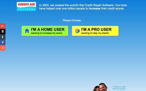 Screenshot of Home Page credit-aid.com - Credit Repair Software from Credit-Aid | Seen on CNN | FREE Demo! - captured Jan. 30, 2017