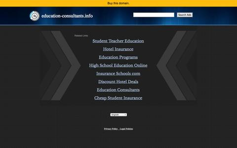 Screenshot of Home Page education-consultants.info - education-consultants.info - captured Sept. 18, 2014