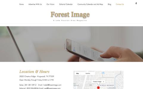 Screenshot of Contact Page forestimage.com - The Fores Image Magazine Contacts - captured Aug. 19, 2018