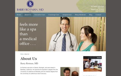 Screenshot of About Page barryrotmanmd.com - About Us | Barry Rotman MD, Inc.Barry Rotman MD, Inc. - captured Oct. 5, 2014