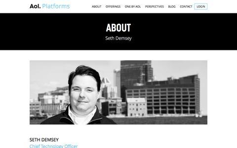 Screenshot of Team Page aolplatforms.com - Seth Demsey | AOL Platforms - captured Jan. 14, 2016