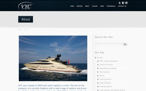 Screenshot of About Page vickersyachtconsultancy.com - About | Vickers Yacht Consultancy - captured Oct. 7, 2014