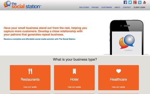 Screenshot of Pricing Page thesocialstation.com - Business Type |The Social Station - captured Oct. 9, 2014