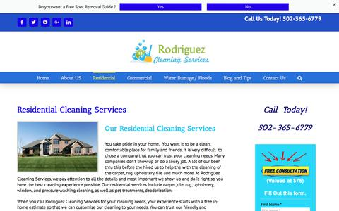 Screenshot of Services Page rodriguezcleanpro.com - Professional Cleaning Services - captured Oct. 23, 2017
