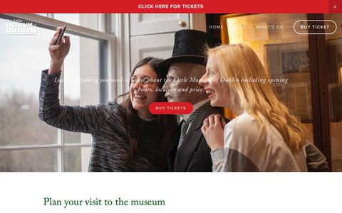 Screenshot of FAQ Page littlemuseum.ie - Plan Your Visit - The Little Museum of Dublin - captured May 29, 2019