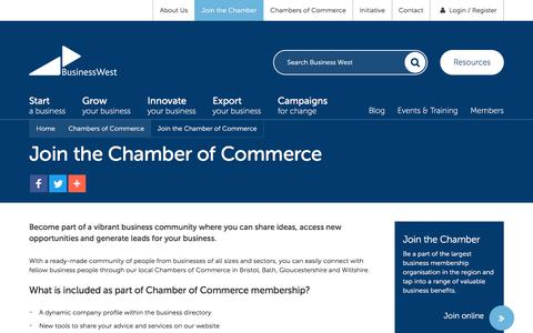 Screenshot of Signup Page businesswest.co.uk - Join the Chamber of Commerce | Business West - captured Oct. 18, 2017