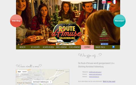 Screenshot of Contact Page route-damuse.nl - Contactgegevens Route d'Amuse Valkenburg - captured Feb. 7, 2018