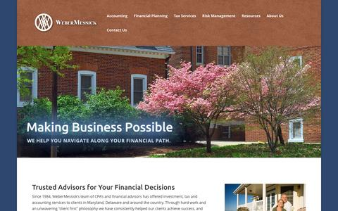 Screenshot of Home Page webermessick.com - Weber Messick | Trusted Advisors for Your Financial Decisions - captured Jan. 10, 2016
