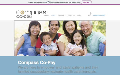 Screenshot of About Page compasscopay.com - compass-co-pay   About - captured July 20, 2018