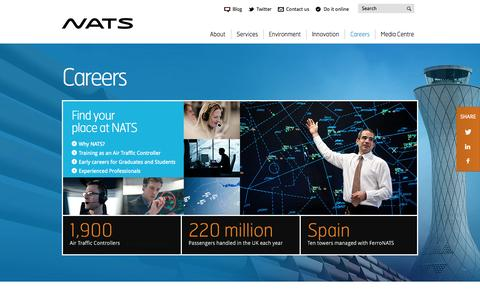 Screenshot of Jobs Page nats.aero - Careers | NATS - captured Sept. 19, 2014