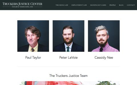 Screenshot of Team Page truckersjusticecenter.com - People — Truckers Justice Center - captured May 20, 2018