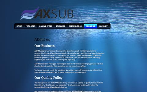 Screenshot of About Page axsub.com - ABOUT US | AXSUB - captured Feb. 5, 2016