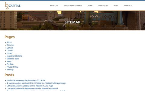 Screenshot of Site Map Page l2capital.net - Sitemap - L2 Capital - captured July 7, 2017