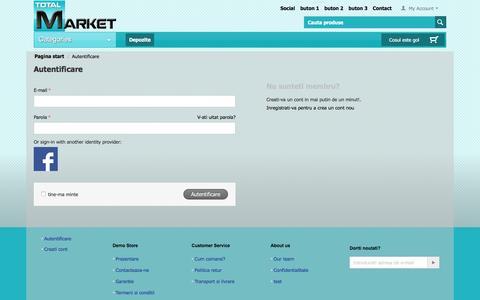 Screenshot of Login Page totalmarket.ro - Autentificare - captured Feb. 24, 2016
