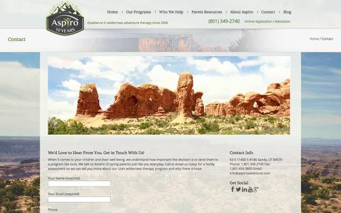 Contact | Wilderness Therapy for Troubled Teens |Aspiro Adventure