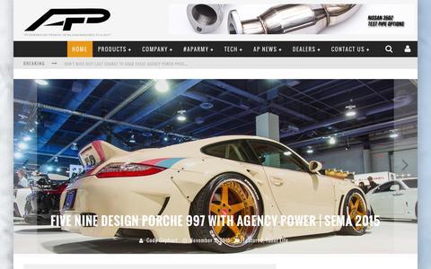 Screenshot of Home Page agency-power.com captured Dec. 24, 2015