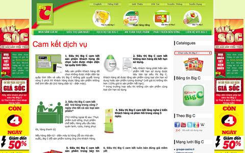 Screenshot of Services Page bigc.vn - Dich Vụ tại Big C - captured Sept. 19, 2014