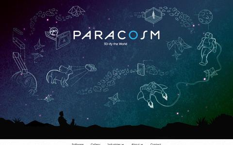 Screenshot of Home Page paracosm.io - 3D Mapping for Mobile Devices | Paracosm - captured May 21, 2016