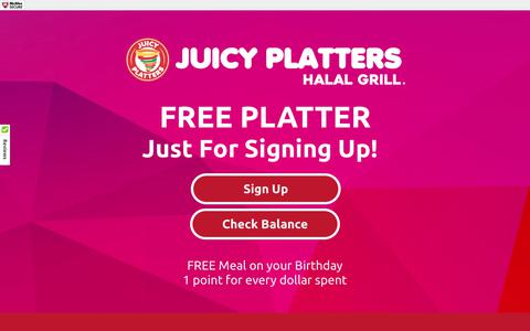 Screenshot of Signup Page juicyplatters.com - Juicy Platters Halal Grill - captured June 8, 2017