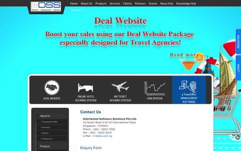 Screenshot of Contact Page dss.com.sg - Distributed Software Solution Pte Ltd. - captured Oct. 5, 2014