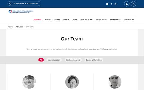 Screenshot of Team Page fsacci.co.za - Our Team | FRENCH SOUTH AFRICAN CHAMBER OF COMMERCE - captured Dec. 19, 2018