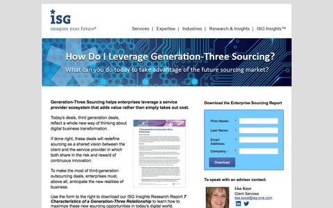 Screenshot of Landing Page isg-one.com - Digital Business Transformation - captured Sept. 19, 2018