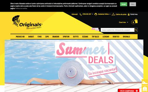 Screenshot of Home Page originals.ro - Originals - Start to dress smart - captured July 28, 2019